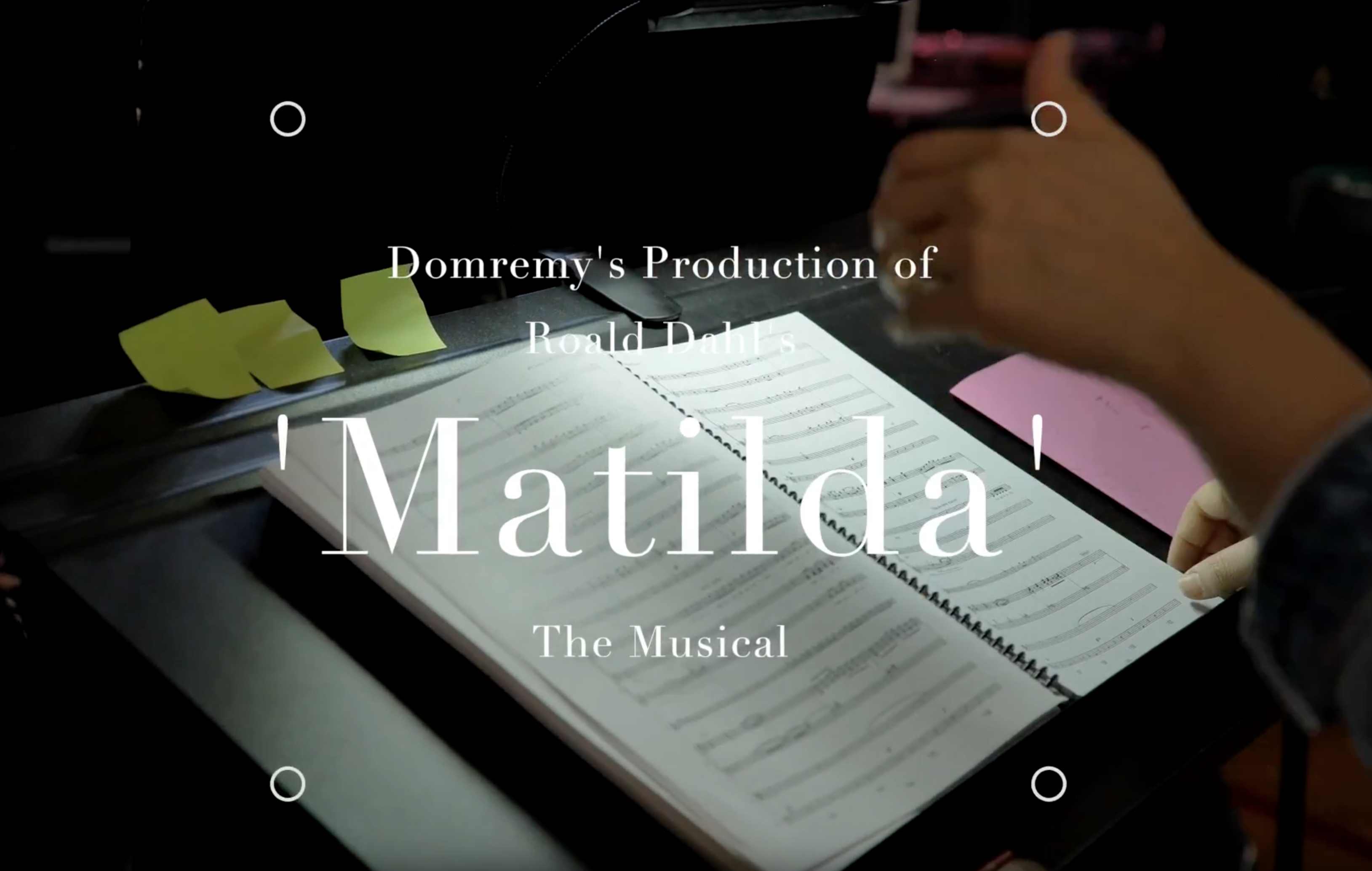 Domremy stages Roald Dahl's, Matilda The Musical - watch our promo