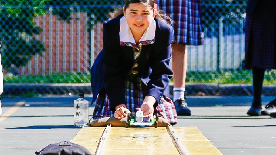 "Year 7 STEM Topic Launch, ""Racing the Sun"", girls used their critical thinking and problem solving skills to construct solar powered cars!"