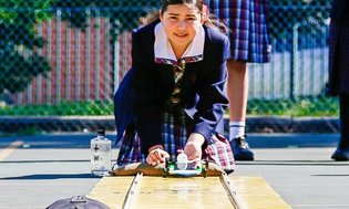 "Year 7 STEM Topic Launch, ""Racing the Sun"", girls used their critical thinking a..."